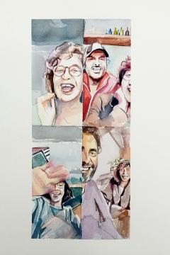 Jose Sanchez Peinado_Watercolor Artist_Lockdown Portraits (1)