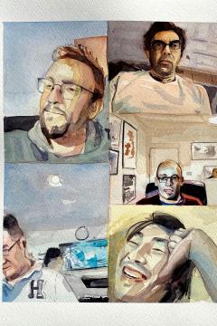 Jose Sanchez Peinado_Watercolor Artist_Lockdown Portraits (10)