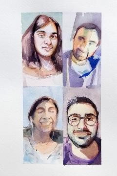 Jose Sanchez Peinado_Watercolor Artist_Lockdown Portraits (11)