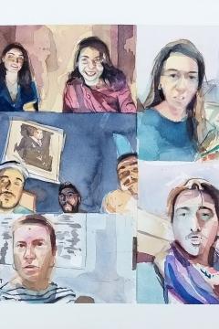 Jose Sanchez Peinado_Watercolor Artist_Lockdown Portraits (12)