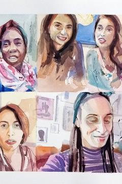 Jose Sanchez Peinado_Watercolor Artist_Lockdown Portraits (13)