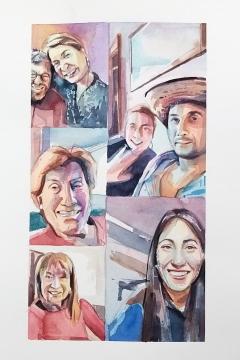 Jose Sanchez Peinado_Watercolor Artist_Lockdown Portraits (14)