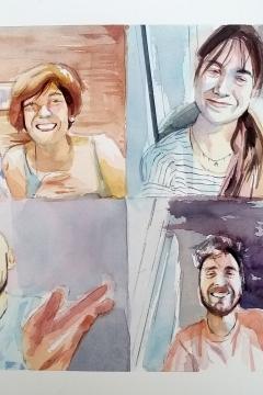 Jose Sanchez Peinado_Watercolor Artist_Lockdown Portraits (16)