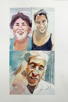 Jose Sanchez Peinado_Watercolor Artist_Lockdown Portraits (17)