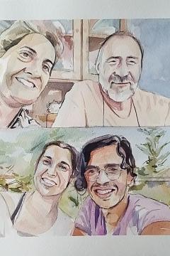 Jose Sanchez Peinado_Watercolor Artist_Lockdown Portraits (18)