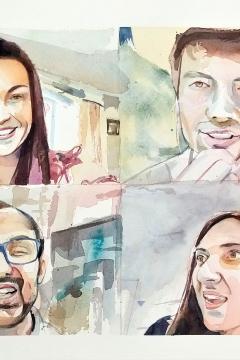 Jose Sanchez Peinado_Watercolor Artist_Lockdown Portraits (19)