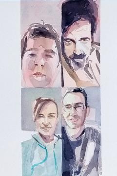 Jose Sanchez Peinado_Watercolor Artist_Lockdown Portraits (2)