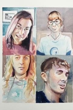 Jose Sanchez Peinado_Watercolor Artist_Lockdown Portraits (20)