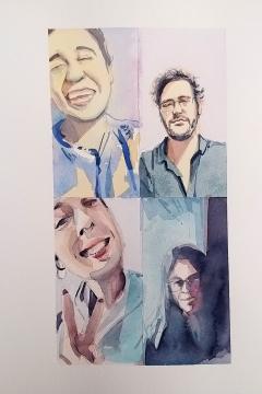 Jose Sanchez Peinado_Watercolor Artist_Lockdown Portraits (3)