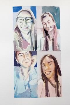 Jose Sanchez Peinado_Watercolor Artist_Lockdown Portraits (4)