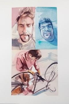 Jose Sanchez Peinado_Watercolor Artist_Lockdown Portraits (6)