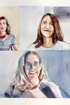 Jose Sanchez Peinado_Watercolor Artist_Lockdown Portraits (8)