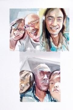 Jose Sanchez Peinado_Watercolor Artist_Lockdown Portraits (9)