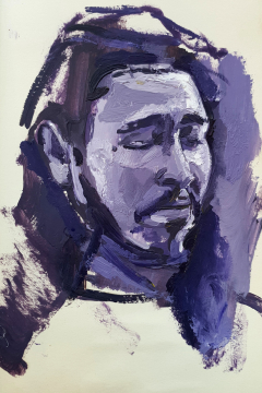 Jose Sanchez Peinado_Oil painter_ New Culture_Post Malone